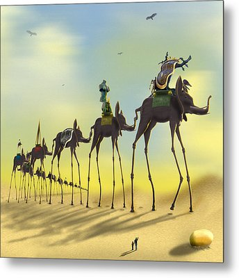 On The Move 2 Without Moon Metal Print by Mike McGlothlen