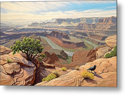 On The Rim-dead Horse Point Metal Print by Paul Krapf