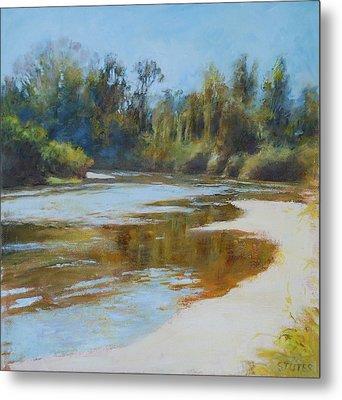 On The River Metal Print by Nancy Stutes