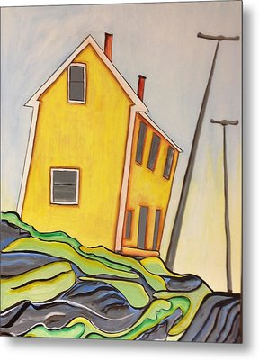 Colorful House  Metal Print by Heather Lovat-Fraser