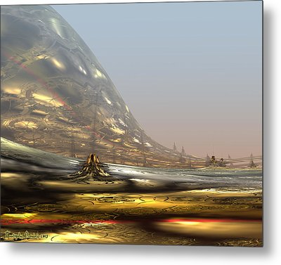 On The Way To The Inner Tibet. 2013 80/64 Cm.  Metal Print by Tautvydas Davainis