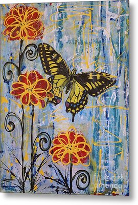 On The Wings Of A Dream Metal Print by Jane Chesnut