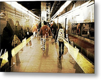 On Time Metal Print by Diana Angstadt