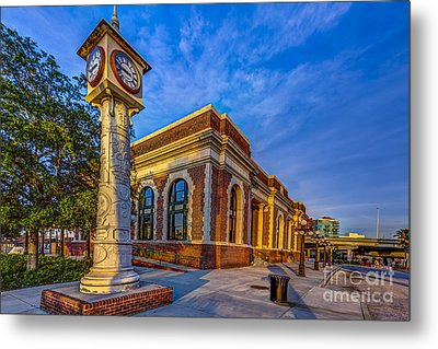 On Time Train Metal Print by Marvin Spates