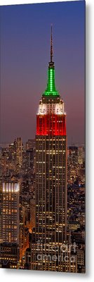 On Top Of The Rock Metal Print by Susan Candelario