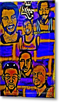 Once A Laker... Metal Print by Tony B Conscious