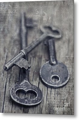 Once Upon A Time There Was A Lock Metal Print by Priska Wettstein