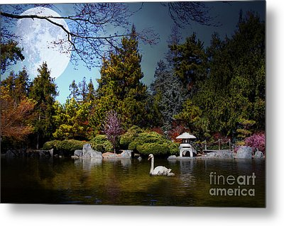 Once Upon A Time Under The Moon Lit Night . 7d12782 Metal Print by Wingsdomain Art and Photography