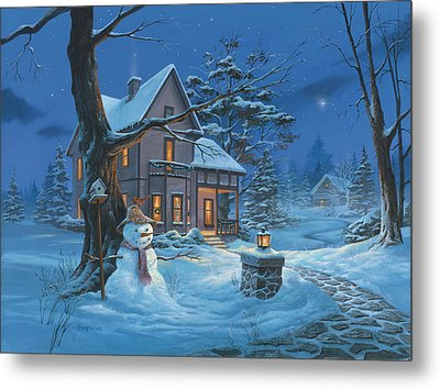Once Upon A Winter's Night Metal Print by Michael Humphries
