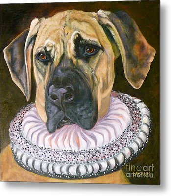 One Formal Pooch Metal Print by Susan A Becker