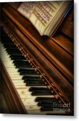 One Last Song  -  Piano Player - Pianist Metal Print by Lee Dos Santos