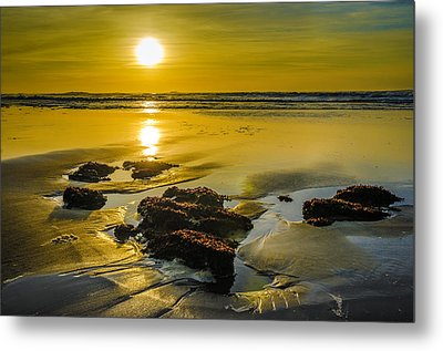One Oregon Coast Sunset Metal Print by Puget  Exposure