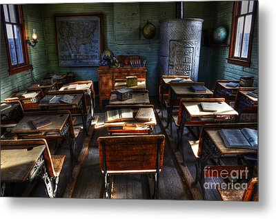 One Room School House Metal Print by Bob Christopher