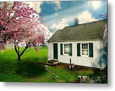 The Little Old Schoolhouse Metal Print by Diana Angstadt