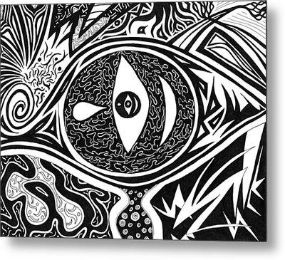 One Tear Metal Print by Kerri White