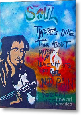One Thing About Music Metal Print by Tony B Conscious