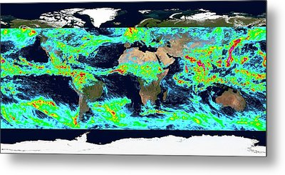 One Week Accumulated Global Precipitation Metal Print by Nasa's Scientific Visualization Studio