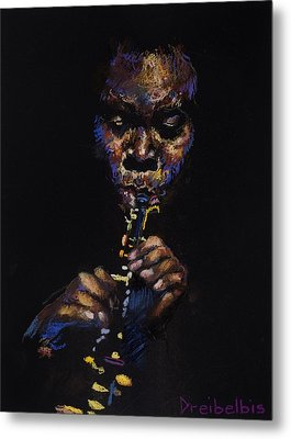 One With The Music Metal Print by Ellen Dreibelbis