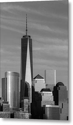 One World Trade Center Bw Metal Print by Susan Candelario
