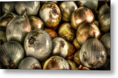 Onions Metal Print by David Morefield