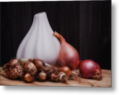 Onions Metal Print by Tom Mc Nemar