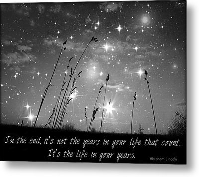 Only The Stars And Me...in The End... Metal Print by Marianna Mills