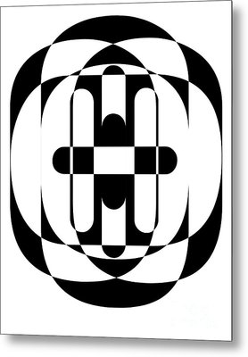 Op Art 5 Metal Print by Edward Fielding