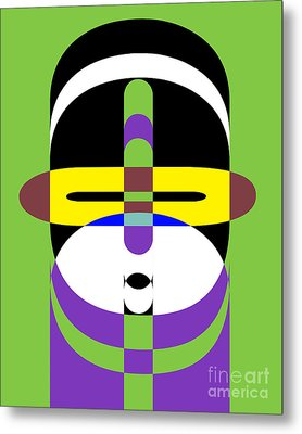 Pop Art People 2 Metal Print by Edward Fielding