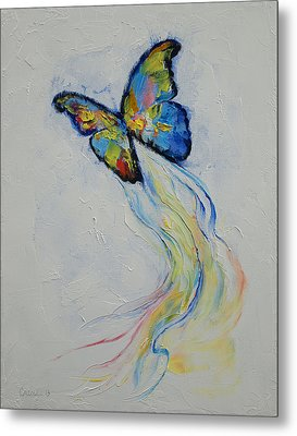 Opal Butterfly Metal Print by Michael Creese