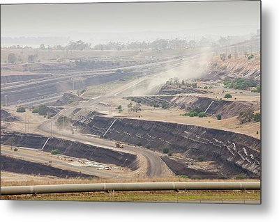 Open Cast Coal Mine Metal Print by Ashley Cooper