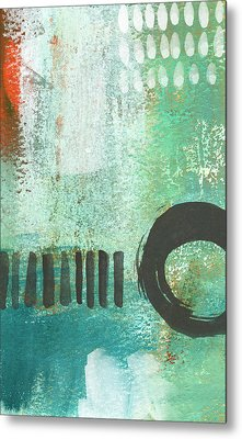 Open Gate- Contemporary Abstract Painting Metal Print by Linda Woods
