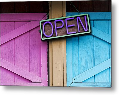 Open Metal Print by Paul Wear