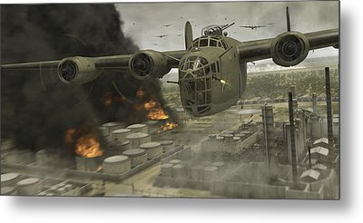 Operation Tidal Wave Head-on View Metal Print by Robert Perry