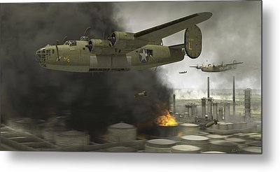 Operation Tidal Wave Side View Metal Print by Robert Perry