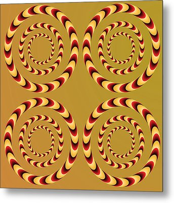 Optical Ilusions Summer Spin Metal Print by Sumit Mehndiratta