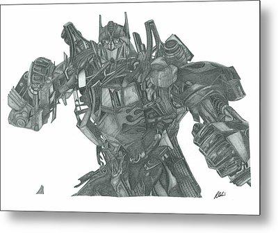 Optimus Prime Metal Print by Rich Colvin