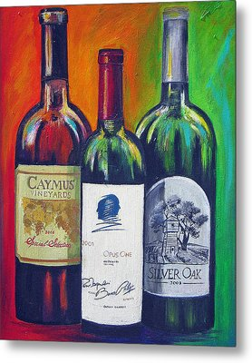 Opus One Caymus And  Silver Oak Metal Print by Sheri  Chakamian