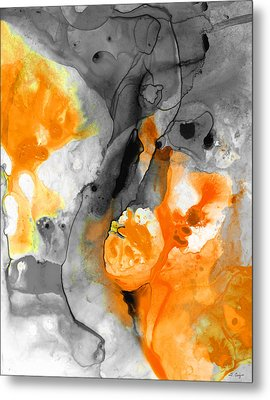 Orange Abstract Art - Iced Tangerine - By Sharon Cummings Metal Print by Sharon Cummings