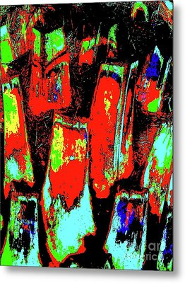 Orange Bark 0001 7 Metal Print by Nina Kaye