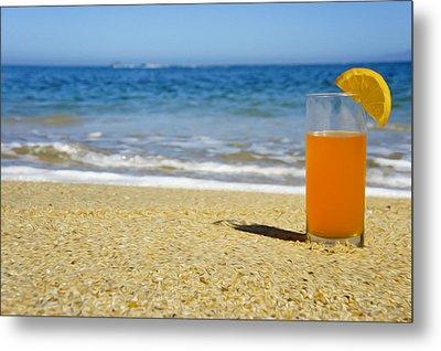 Orange Juice Metal Print by Aged Pixel