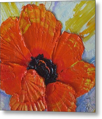 Orange Poppy Metal Print by Paris Wyatt Llanso