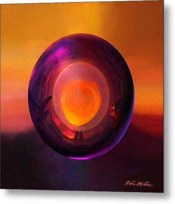 Orbing An Evening Sunset Metal Print by Robin Moline