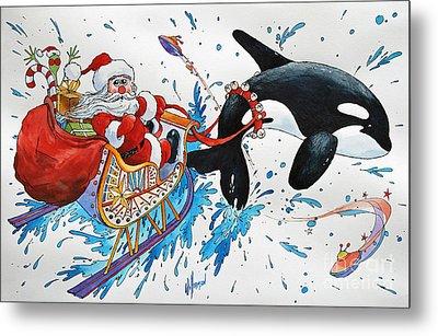 Orca Santa Metal Print by James Williamson