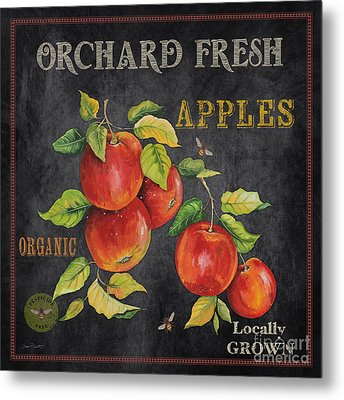 Orchard Fresh Apples-jp2638 Metal Print by Jean Plout