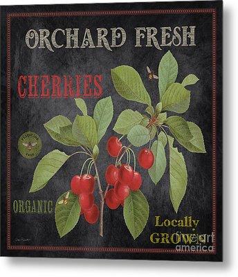 Orchard Fresh Cherries-jp2639 Metal Print by Jean Plout