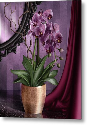 Orchid I Metal Print by April Moen