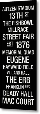 Oregon College Town Wall Art Metal Print by Replay Photos