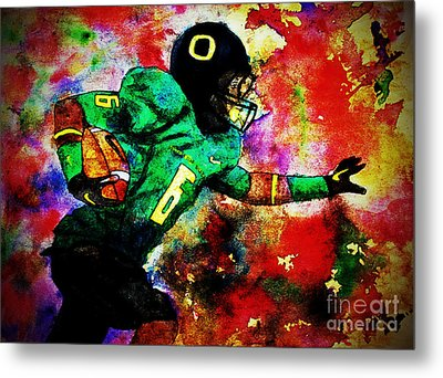 Oregon Football 3 Metal Print by Michael Cross