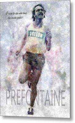 Oregon Running Legend Steve Prefontaine Metal Print by Daniel Hagerman