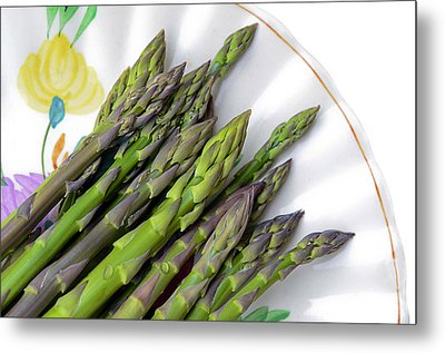 Organic Asparagus Metal Print by Susan Leggett